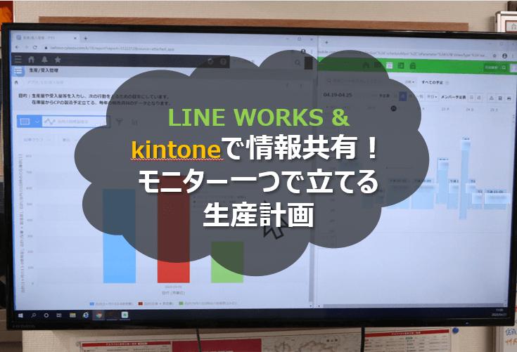 LINEWORKS kintone生産計画