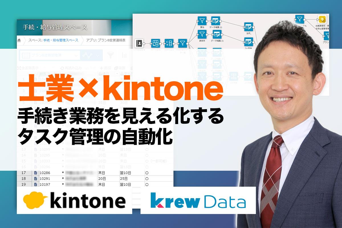 士業でkintone(キントーン)活用!タスク作成の自動化、見える化で作業時間大幅短縮