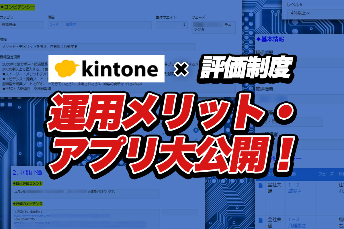 kintone(キントーン)で評価制度を管理する7つのメリット